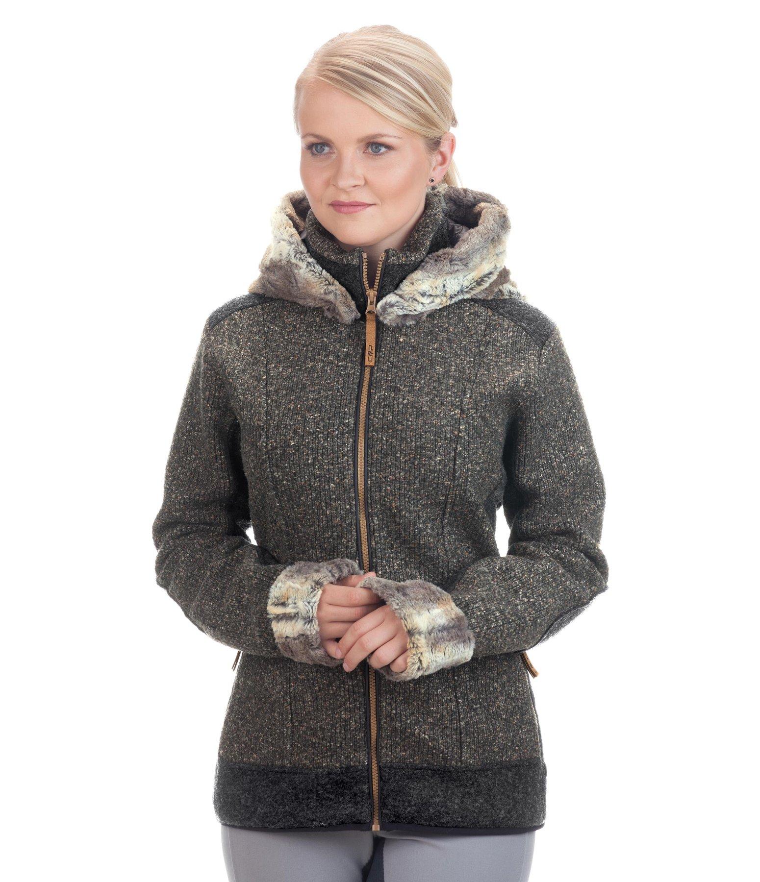 veste polaire tricot feutrine capuche giada cmp mode femme felix b hler. Black Bedroom Furniture Sets. Home Design Ideas